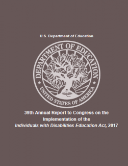 Annual Report to Congress on the Implementation of the Individuals with Disabilities Education Act Cover