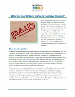 What are Your Options to Pay for Assistive Devices? cover