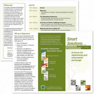 Smart Solutions Meeting Brochure: welcome letter, sample agenda, and details on materials