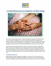 5 Useful Resources for Caregivers of Older Adults front cover