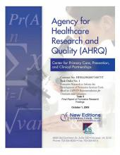 Cover of AHRQ Final Report