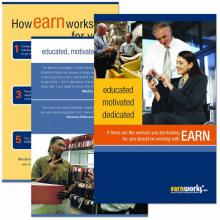 EARN Employer Recruiting Brochure: educated, motivated, dedicated.