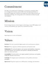 Page from the OAST strategic plan