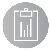 Research & Evaluation, Data Analysis icon