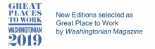New Editions selected as great place to work by the Washingtonian